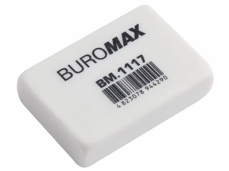 Гумка для олівця Buromax білий 32x22x8mm