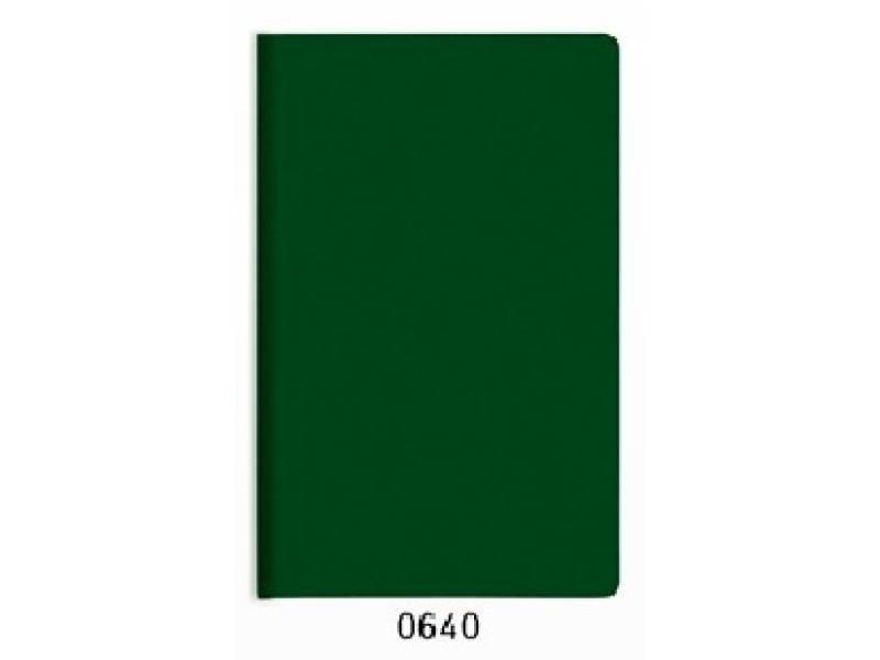 Блокнот Поліграфіст А5 234/2 шт. шкіра 128л, кремовий блок, зелений клітинка