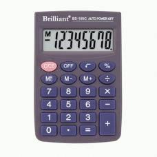Калькулятор кишеньковий Brilliant BS-100 8р. (58*88мм)