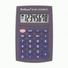 Калькулятор кишеньковий Brilliant BS-200 8р. (62*98мм)
