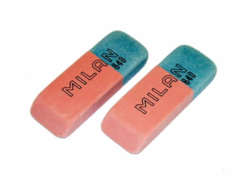 Гумка для олівця Milan 840 червоно-синя