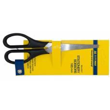 Ножиці Buromax OFFICE пластикові ручки 160мм