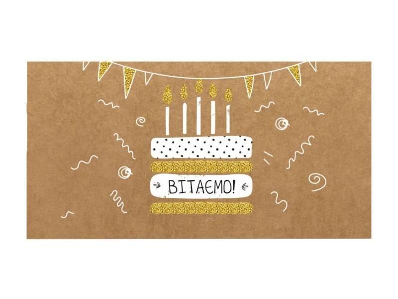 Аксесуари подарункові конверт для грошей ЛВ-01-406 З Днем Народження! (за 10шт) нейтральний