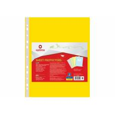 Optima A4 (100шт.) LUX 40мкм жовтий