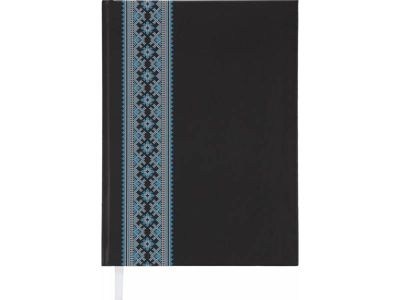 Діловий щоденник Buromax А5 UKRAINE чорний лінія
