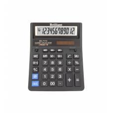 Калькулятор бухгалтерський Brilliant BS-777M чорний 12р. (157*200мм) (аналог Citizen 888)