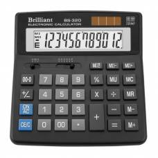 Калькулятор бухгалтерський Brilliant BS-320 12р. (156*157мм)