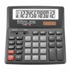 Калькулятор бухгалтерський Brilliant BS-322 12р. (156*157мм)