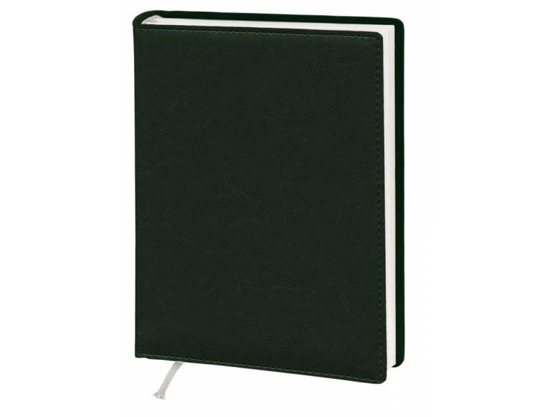 Діловий щоденник Поліграфіст А5 В241 шт.шкіра NEBRASKA, зелений лінія