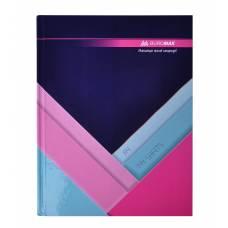 Книга комірна Бюромакс 144л MODEST твердий лак, темно-синя