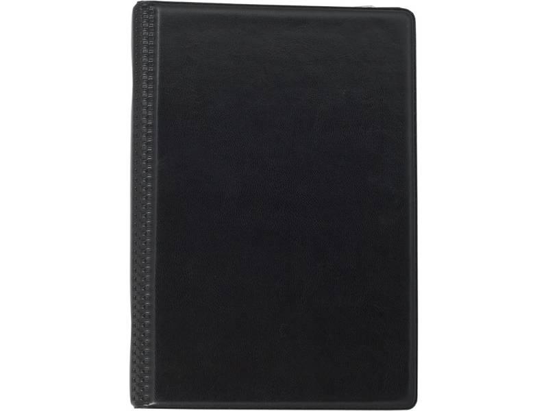 Візитниця *Buromax 120 карток, вініл на кільцях, чорна
