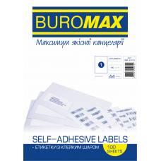 Папір самоклейний Buromax 100шт. (1) 210*297мм