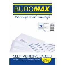 Папір самоклейний Buromax 100шт. (40) 52.5*29.7мм