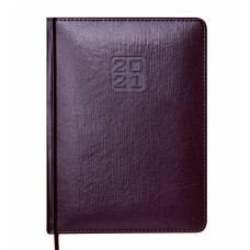 Діловий щоденник датований Buromax А5 BRAVO (Soft) шт.шкіра, кон`ячний
