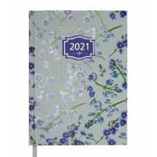 Діловий щоденник датований Buromax А5 BLOSSOM блакитний