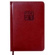 Діловий щоденник датований Buromax А5 BRAVO (Soft) шт.шкіра, бордовий