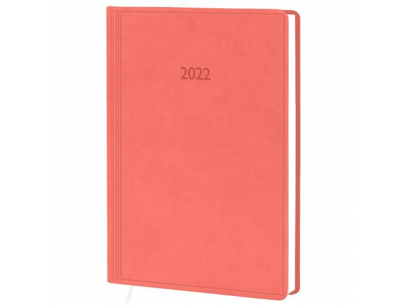 Діловий щоденник датований Поліграфіст В240 (20) VIVELLA шт.шкіра, кораловий