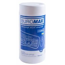 Засоби для чищення *Buromax JOB серветки вологі для оргтехніки, туба (80 шт.)