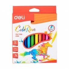 Фломастери Deli COLOR RUN картона упаковка 12кол.