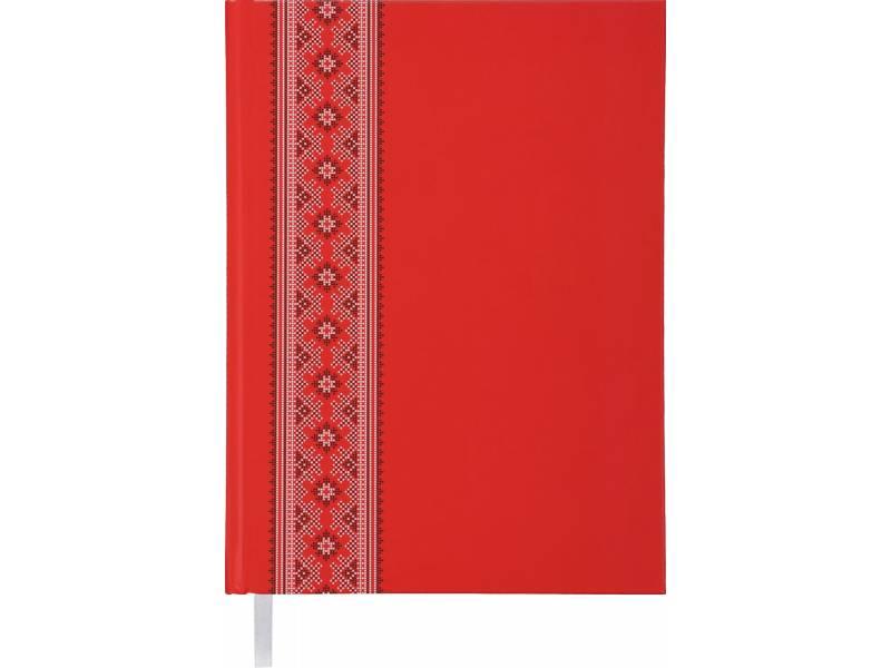 Діловий щоденник Buromax А5 UKRAINE червоний лінія