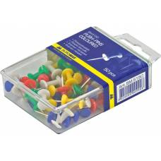 Кнопки гвіздки Buromax кольорові 50шт. у пластиковому контейнері
