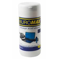 Засоби для чищення Buromax серветки вологі для монітору, туба (100 шт.)