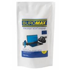 Засоби для чищення Buromax серветки вологі для монітору, запасний блок (100 шт.)