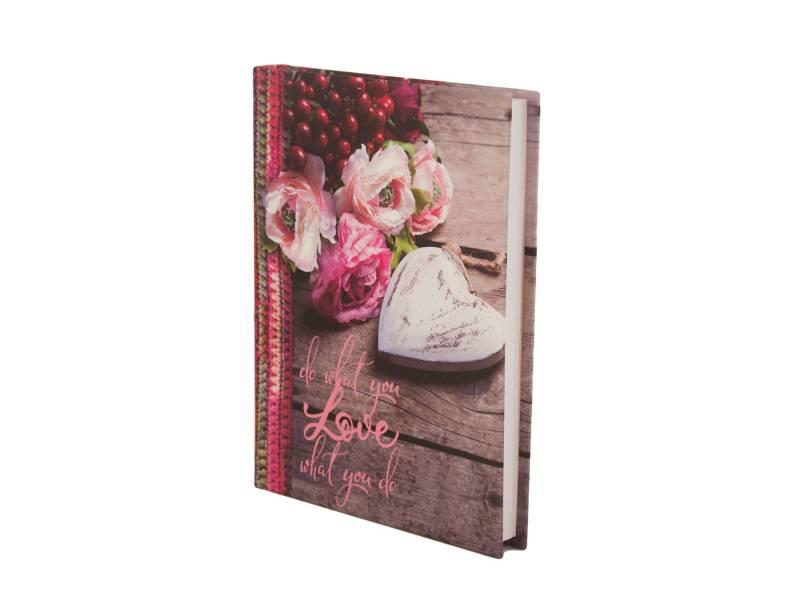 Діловий щоденник *Buromax А5 ROMANTIC червоний лінія