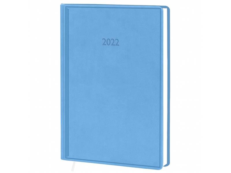Діловий щоденник датований Поліграфіст В240 (20) VIVELLA шт.шкіра, блакитний