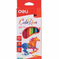 Олівці кольорові Deli COLOR RUN 12кол.