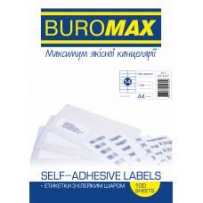Папір самоклейний Buromax 100шт. (14) 105*42.3мм