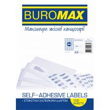 Папір самоклейний Buromax 100шт. (44) 48.3*25.4мм