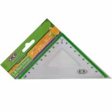 Трикутник Zibi 140мм 90*45 з салатовою смужкою, блістер