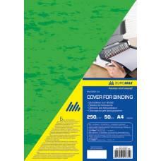 обкладинка ПІД ШКІРУ Buromax А4 250мкм, зелена (за 50шт)