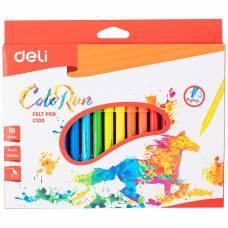 Фломастери Deli COLOR RUN картона упаковка 18кол.