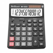 Калькулятор бухгалтерський Brilliant BS-2222 12р. надвеликий дисплей (150*193мм)