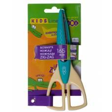 Ножиці дитячі Zibi 165мм ЗІГ-ЗАГ, бірюзові