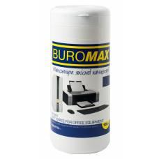Засоби для чищення Buromax серветки вологі для оргтехніки, туба (100 шт.)