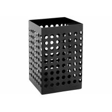 Підставка канцелярська *Optima MODERN металева для ручок, прямокутна, чорна