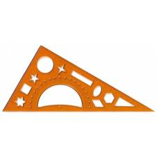 Трикутник Х-М 200мм 60*90*30 (транс+трафарет геом.фігур)