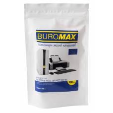 Засоби для чищення Buromax серветки вологі для оргтехніки, запасний блок (100 шт.)