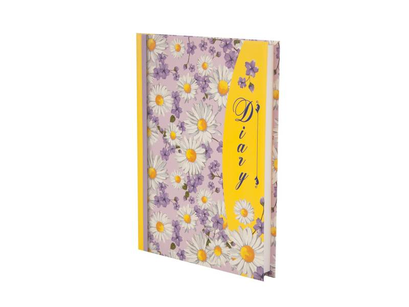 Діловий щоденник *Buromax А5 LAURA жовтий лінія