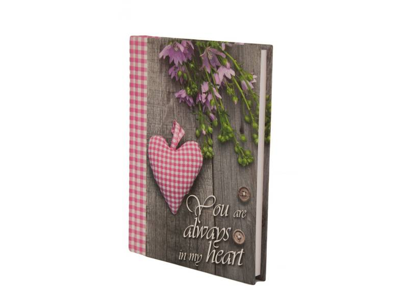 Діловий щоденник *Buromax А5 ROMANTIC рожевий лінія