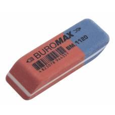 Гумка для олівця Buromax синьо-червоний 42x14x8мм
