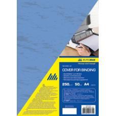 обкладинка ПІД ШКІРУ Buromax А4 250мкм, синя (за 50шт)