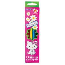 Олівці кольорові 1Вересня (для дівчаток) 6цв.