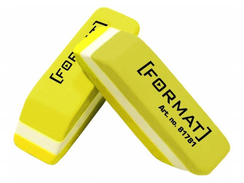 Гумка для олівця *Format для олівця, жовто-біла