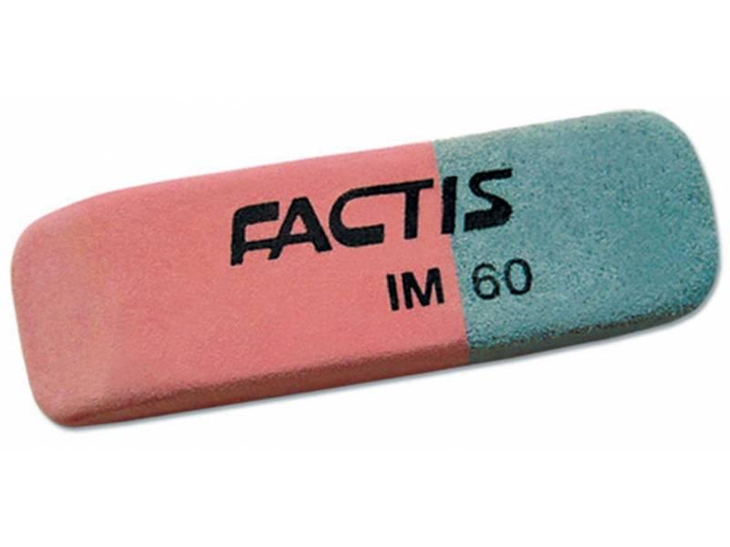 Гумка для олівця Factis IM60 червоно-синя