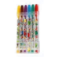 Ручки у наборі гелеві LK 2425-13 з глітером 6шт.