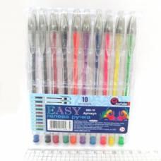 Ручки у наборі гелеві Joseff Otten №888 10шт. (прозорий корпус)